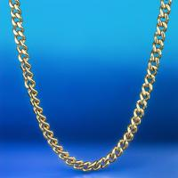 Hip Hip Miami Curb Cuban Chain Necklace 5.5cm 20/24/28 Inch Gold Cuban Link Necklace Stainless Steel CZ Bling Rapper Necklace