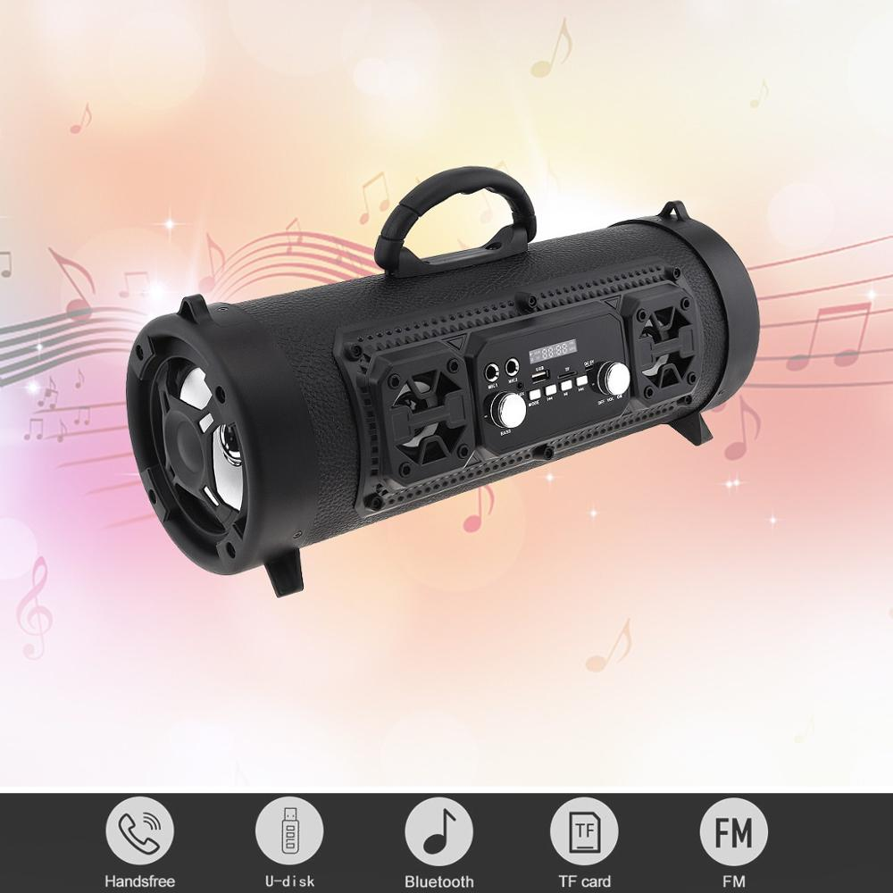 Bluetooth Speaker Cool Portable Outdoor Color Light Subwoofer with FM TF AUX USB Microphone connector for Home Party in Portable Speakers from Consumer Electronics