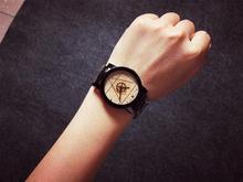 Zegarek męski koło zębate geometryczne kształty