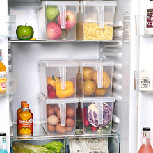 Kitchen Transparent Plastic Storage Box Organizer PP Sealed Large Food Container Containers Refrigerator