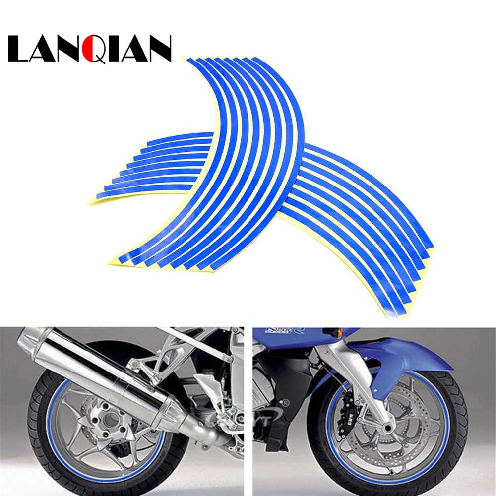 For yamaha yzf r1 r3 r6 r15 r25 r125 r1m motorcycle wheel sticker colorful motor stickers