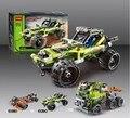 Alta Técnica 2 en 1 Modelo de Coche guerrero off-road racer 3D juego de construcción Guerrero coche deportivo compatible legoe juguetes para Bebés juguetes para niños
