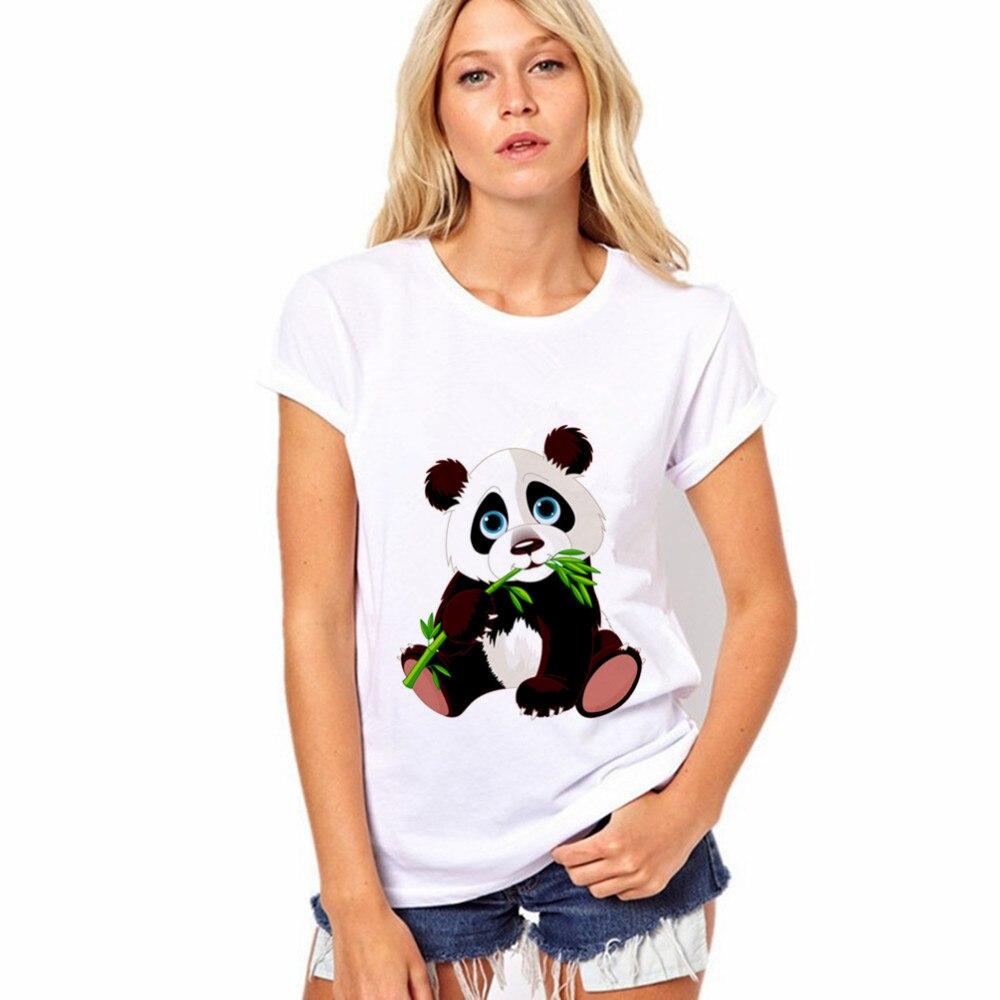 2018 Nuova Panda T-shirt Da Donna Vestiti Delle Donne Europee E Americane Y00022