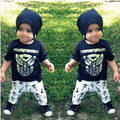 Children's Wear Iron Man Cartoon T-shirt + Printing Pants Two Piece Toddler Clothing Sets Baby Infant Clothes for Boys BBS053