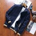 2016 marca de calidad Del estilo de Corea de los hombres delgados chaquetas tallas grandes M-4XL de los hombres ropa de primavera y otoño outwear chaqueta de abrigo de los hombres vestido