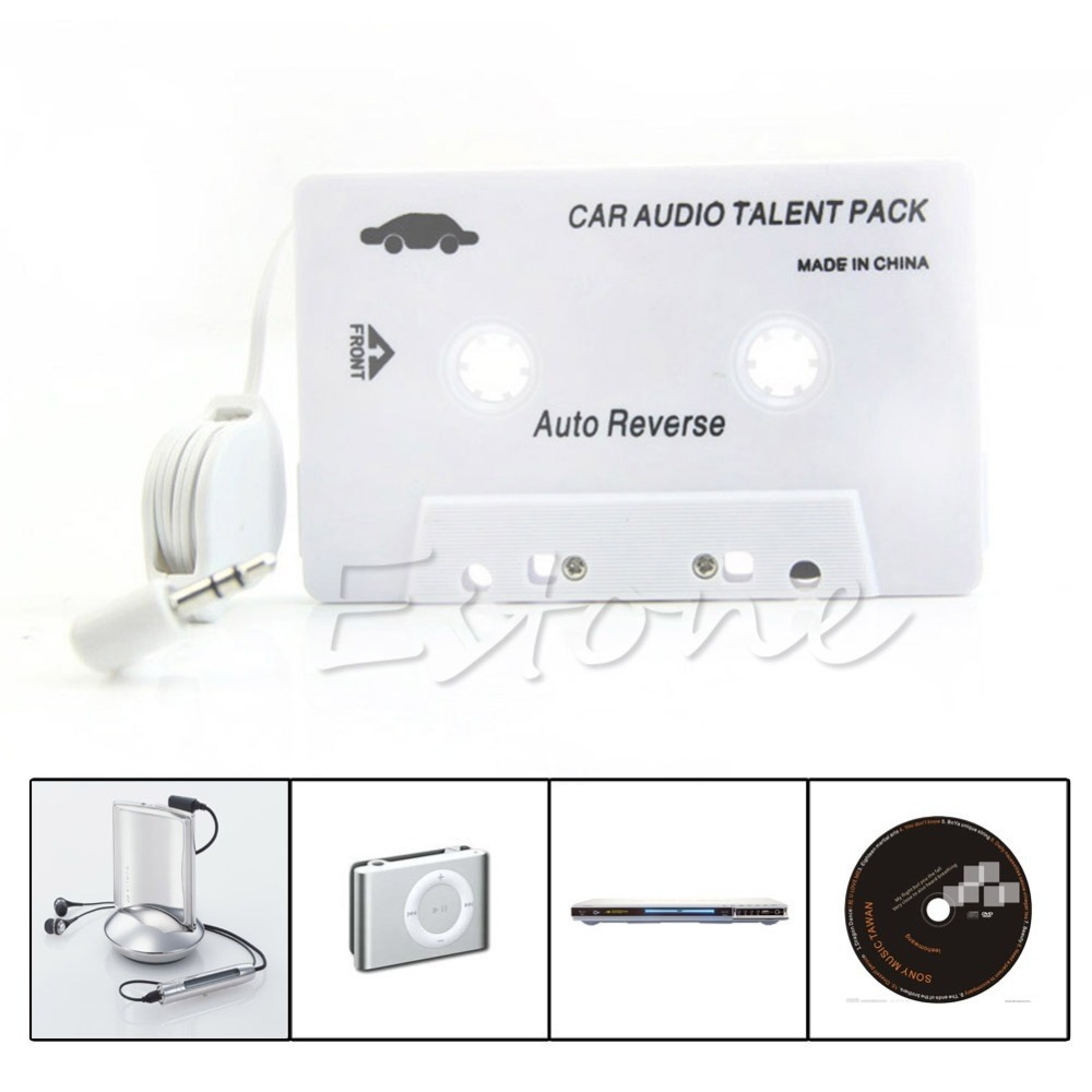 Cassette Car Stereo Audio Tape Adapter 3.5mm Aux For iPod iPhone MP3 CD Player
