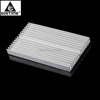 Gdstime Aluminum Heat Sink Heatsink Module Cooler Fin for High Power Amplifier Transistor Semiconductor Devices 100x60x10mm 5pcs lot rjk0351 k0351 mosfet metal oxide semiconductor field effect transistor