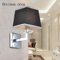 Lámpara de pared minimalista y moderna de estilo nórdico  lámpara de pared de tela creativa americana para balcón o dormitorio  envío gratis