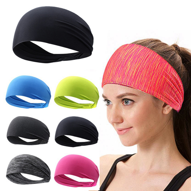 1PC Colorful Elastic Cloth Yoga Headband Sport Sweatband Women/Men Running Hair Band Turban Fitness Bandage Sport Accessories