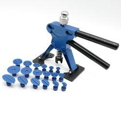 Nowe narzędzia pdr Paintless narzędzia do naprawiania wgnieceń dent Removal ściągacz wgnieceń zakładki urządzenie wygładzające wgniecenia zestaw narzędzi ręcznych zestawy narzędzi PDR + 18 szt. Zakładki w Zestawy narzędzi ręcznych od Narzędzia na