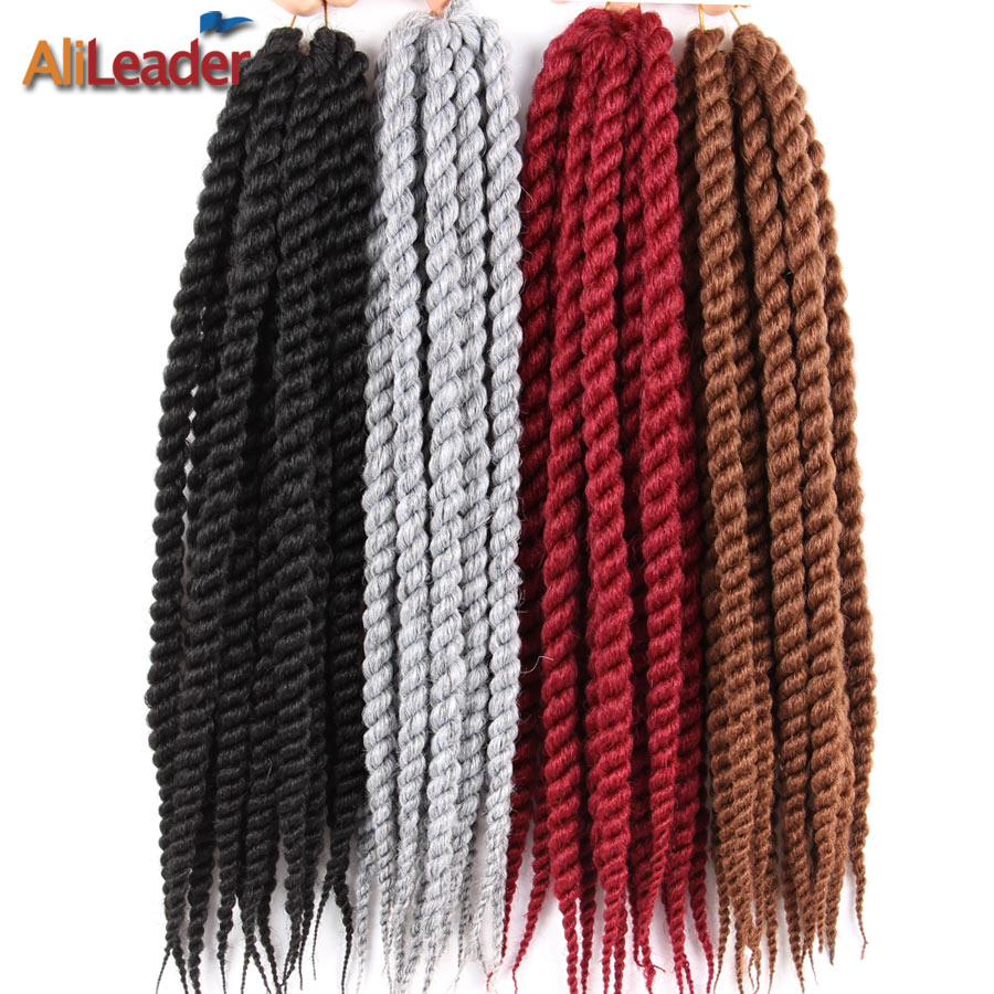 AliLeader 1-10Pcs Havana Twist Crotchet Braid Kanekalon Braiding Hair For African American Black Women Afro Synthetic Hair 12-22