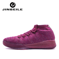 Blue Purple Men Basketball Shoes Couple Basketball Sports Sneakers Sock Design Basketball Sneakers Outdoor Shoe