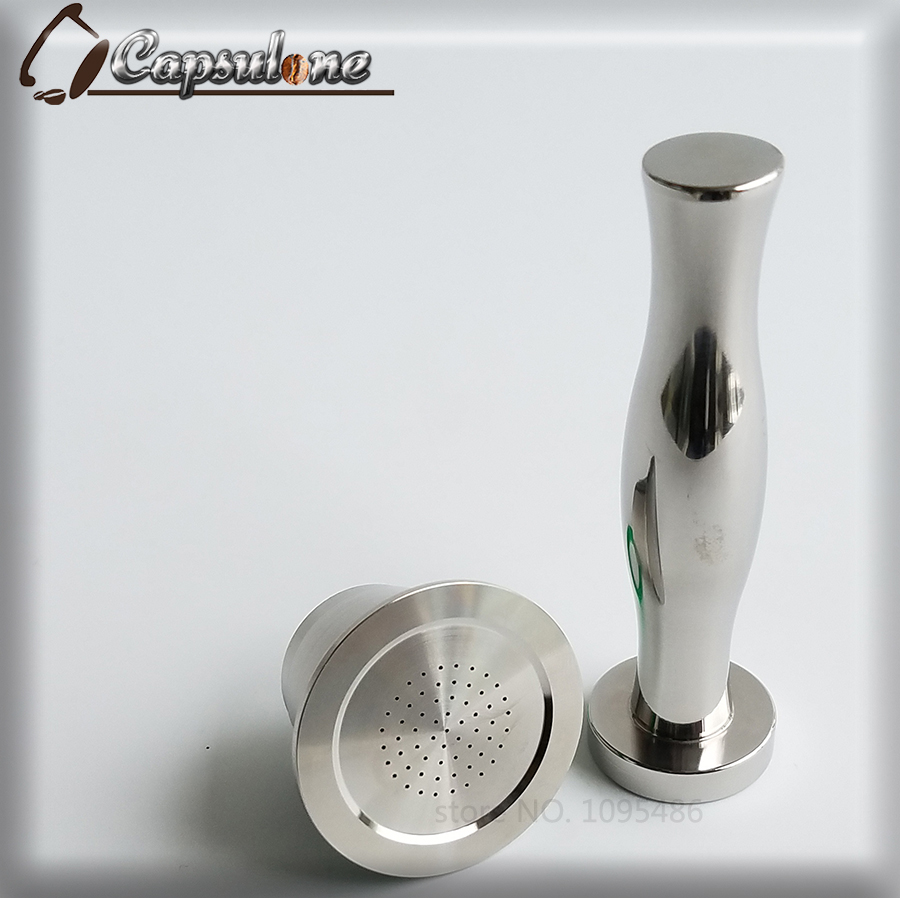 Reusable Stainless Steel Metal Nespresso Machine Compatible Capsule coffee Tamper Refillable Free Shipping gift ...