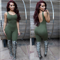 2016 New Style Autumn Winter Rompers Womens Jumpsuit Sleeveless Sexy Bandage Bodycon Rompers Long Pants Night Clubwear Vestidos