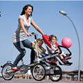 Folding 3 Wheels Bicycle for Mother & Baby, Baby Stroller Bike,  3 in1 Baby Stroller Bicycle, 4 Modes Free Convertible