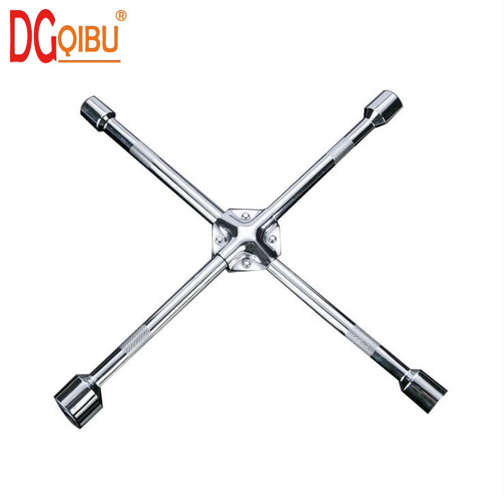 14Inch 17/19/21/23mm sleeve Car Tire Repair Disassembly Cross Socket Wrench with Inside Hexagon Socket Auto repair hand tool|Wrench| |  - title=