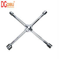 14Inch 17/19/21/23mm sleeve Car Tire Repair Disassembly Cross Socket Wrench with Inside Hexagon Socket Auto repair hand tool