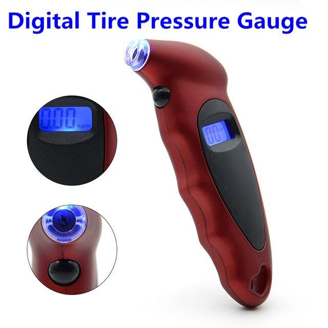 Digital Tire Air Pressure Gauge Meter Tester LCD Backlight 150PSI Car Motorcycle