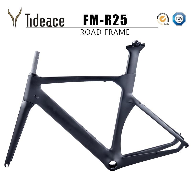 Tideace X de frein course pleine de carbone cadre vélo de route cadres vélo de cadres 45/48/50/52/ 54/56 cm carbone cadre de la bicyclette