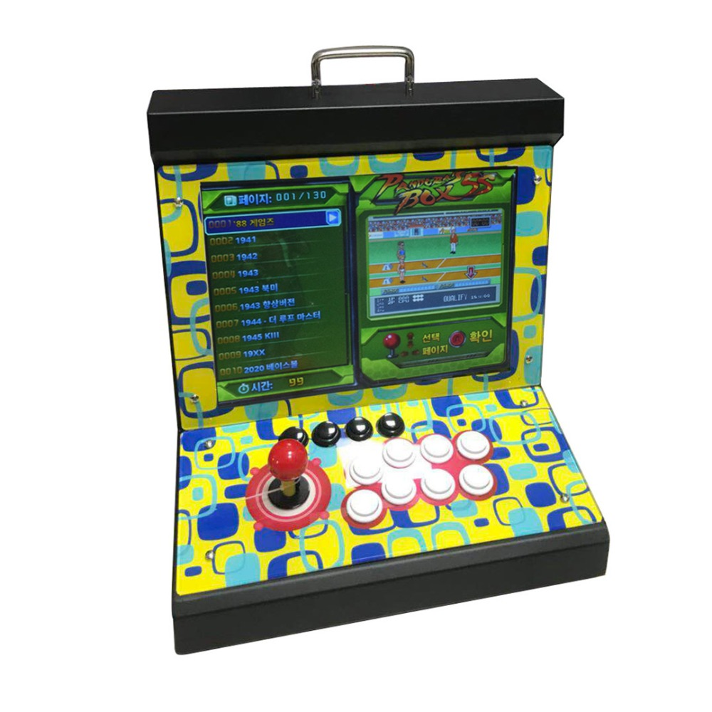 Mini Bartop Game Machine Arcade Video Game Console 1299/1388 In 1 Box 5s/6s For 1 Player 15 Inch Screen