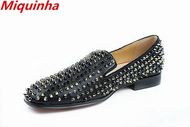 c2d0e69f0 Propia Marca Hombres Reviets Mocasines de Suela Roja Caballero Moda Spikers Zapatos  Hombre Zapatos de Los
