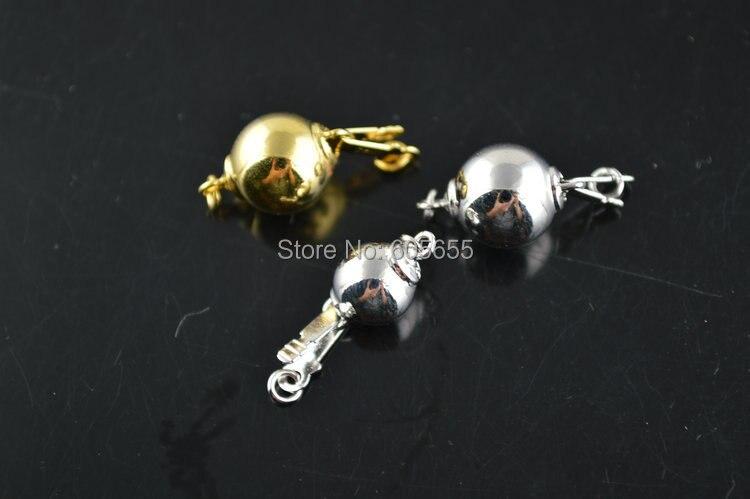 ee1b20344b3c Plata 925 10mm forma redonda TAB insertar collar cierres resultados de la  joyería de la manera 10 Unid por lote