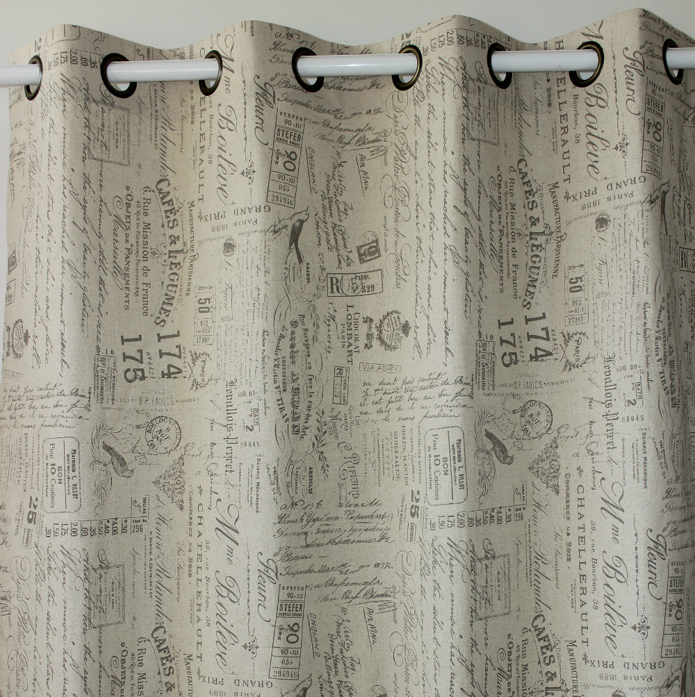VEZO HOME New Printed Bird Letters Linen Window Curtains Door Bedroom Living Room Ready Curtain Panel Home Decor 130x250cm In From Garden On