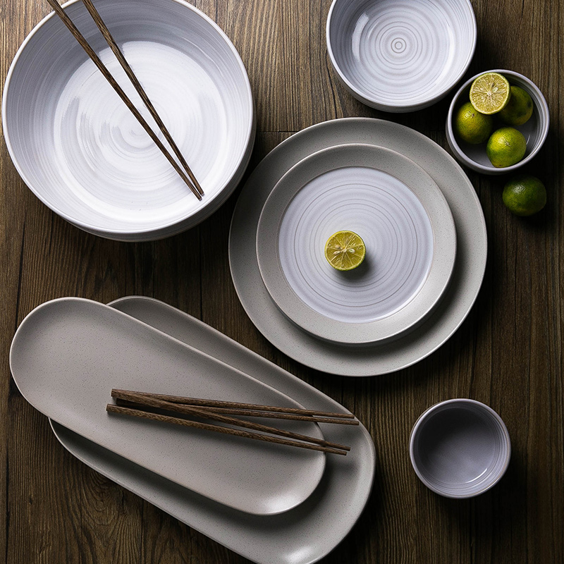 Ceramic dish Snack dishes large Salad bowl Fish plates High quality plate and dishes Soup Bowl Solid color Barbecue pallets-in Dinnerware Sets from Home ... & Ceramic dish Snack dishes large Salad bowl Fish plates High quality ...