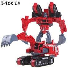 5 in 1 Alloy Forklifts toys Truck Big Size Engineering Deformation Robot Car Deformation Anime Children