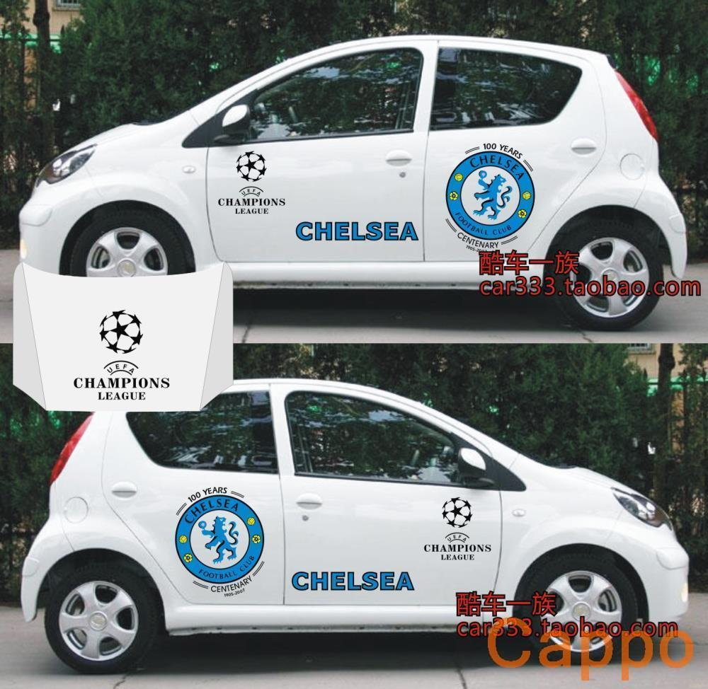 Sticker design for car online - Champions League Team Chelsea F0 Car Stickers Car Stickers Full Vehicle Pull Flower Stickers China