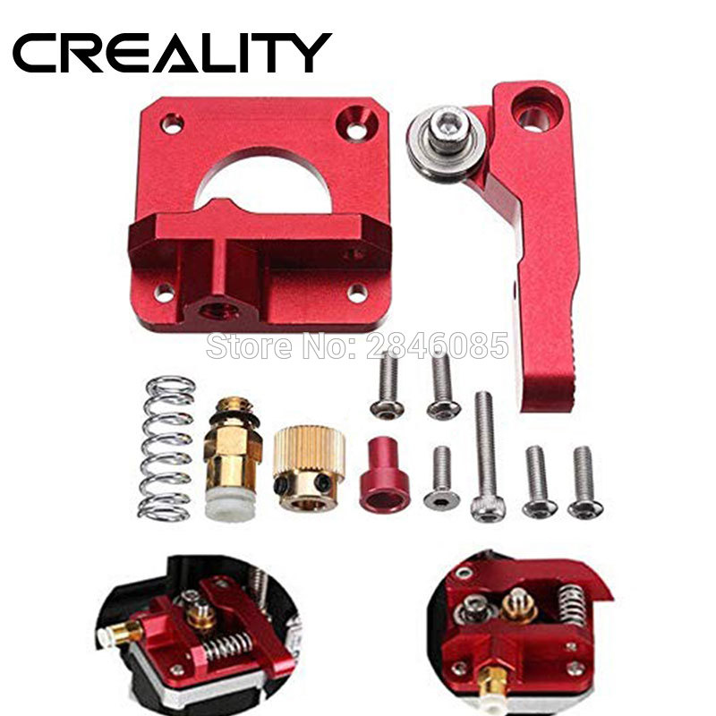 CREALITY 3D Red Metal MK8 Extruder Aluminum Alloy Block Bowden Extruder 1 75mm Filament For CREALITY 3D Printer