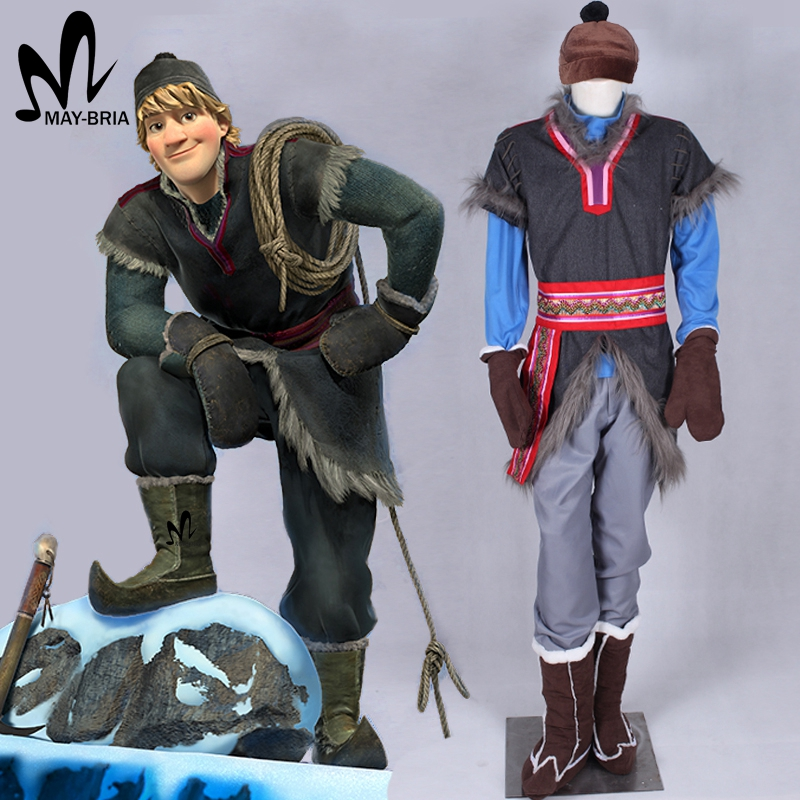 halloween costumes for men adult Disnye snow grow elsa anna Kristoff cosplay costume cartoon cosplay adult kristoff costume