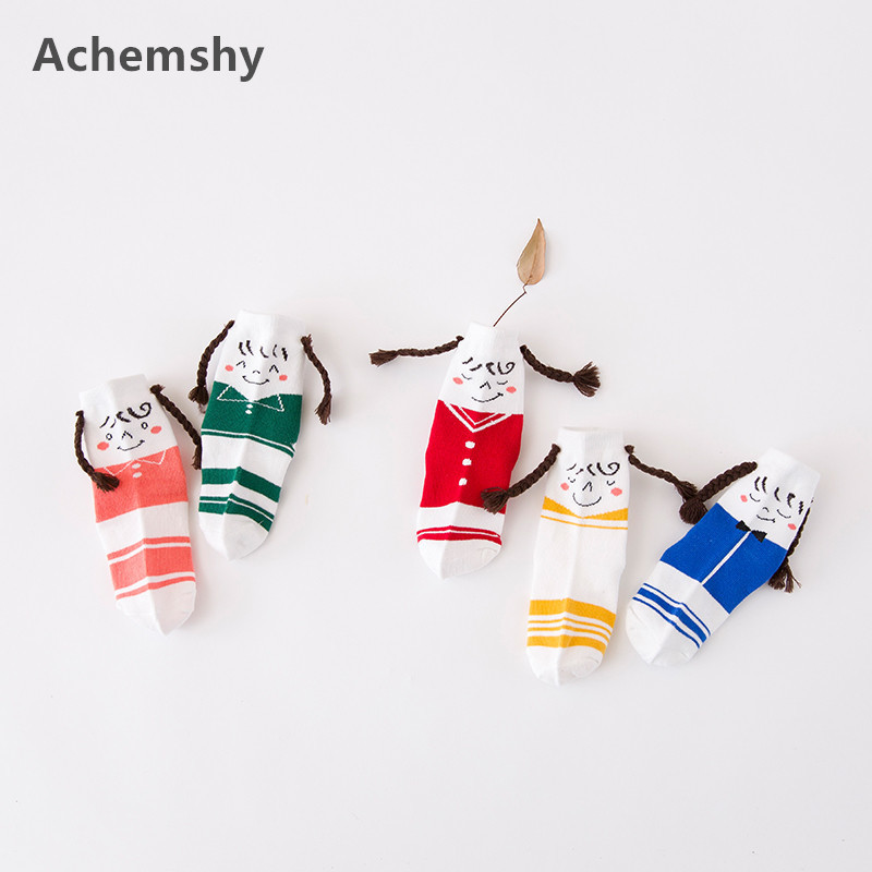 Kids Ankle Socks Cartoon cute smiley braid Cotton Socks Boys Girls Children Socks 1-10 T ...