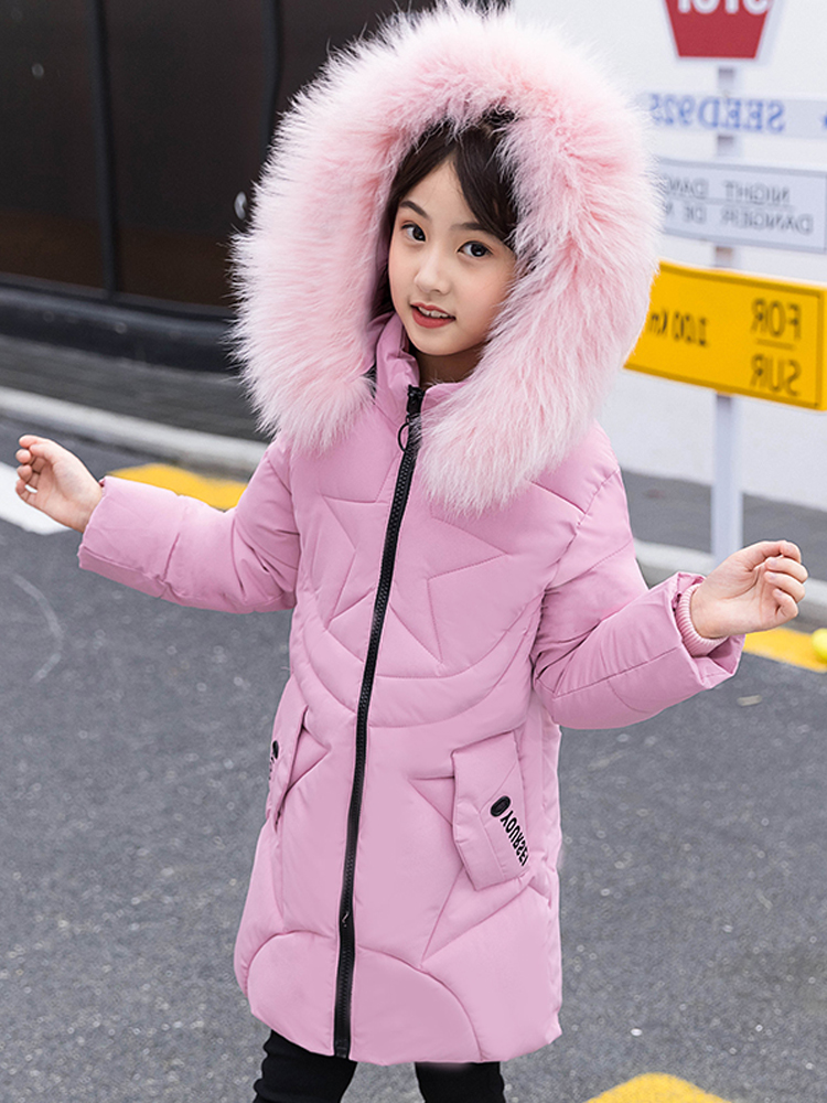 2018 Winter Girls Jacket Warm Baby Girls Coats Jacket For Girls Thick Coat Kids Baby Girl Clothes Snowsuit Winterjas Meisjes 12 baby girls jackets 2018 winter jacket for girls winter coat kids clothes children warm hooded outerwear coats winterjas meisjes