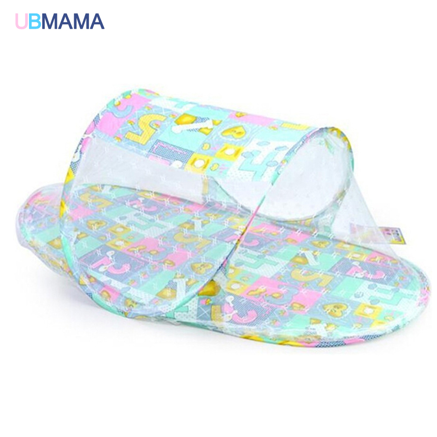 Mosquito Net Portable Cotton Folding Foldable Portable Zipper Large Size Colorful Dusty Boy Girl Baby With Movable Crib Bed