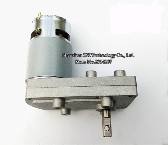 775 Miniature DC gear motor Torque 7 font motor More speed 6V / 12V / 24V FB-775 gb50550555 miniature dc gear speed reducer multi standard optional