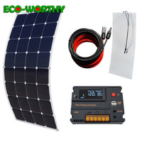 100W 18V flexible Monocrystalline Solar power Panel with 20A solar charger Controller home off grid for 12V battery 100W mono