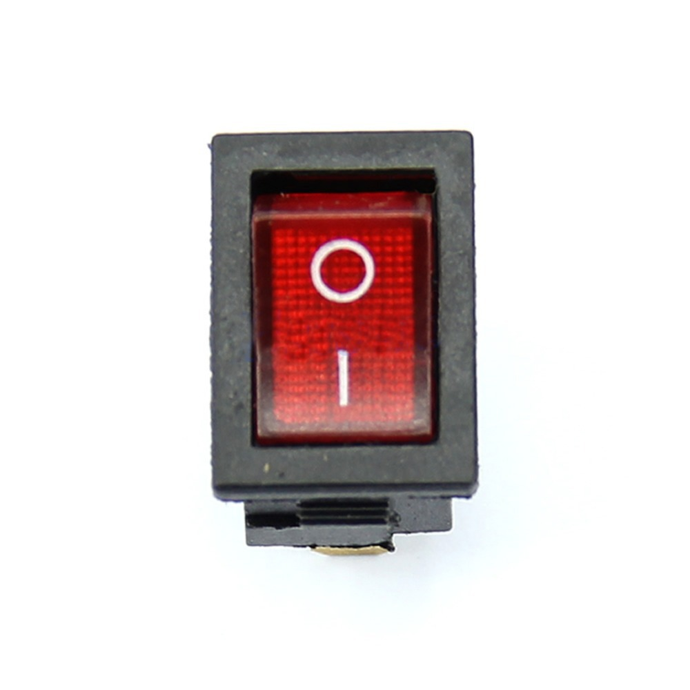 5Pcs/Lot 3 Pin AC 6A/250V 10A/125V Red  ON-OFF SPST Snap in Boat Rocker Switch T1407 P0.5 new mini 5pcs lot 2 pin snap in on off position snap boat button switch 12v 110v 250v t1405 p0 5