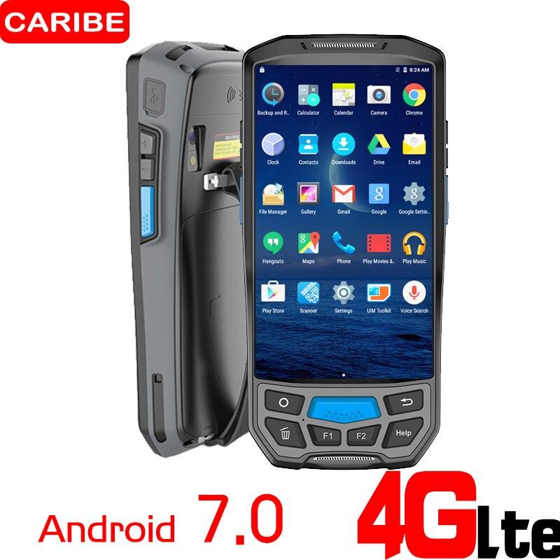 CARIBE PL-50L 2D считыватель штрих-кодов Android ручной биллинга машина с принтером PDA Беспроводной считывания штрих-кода