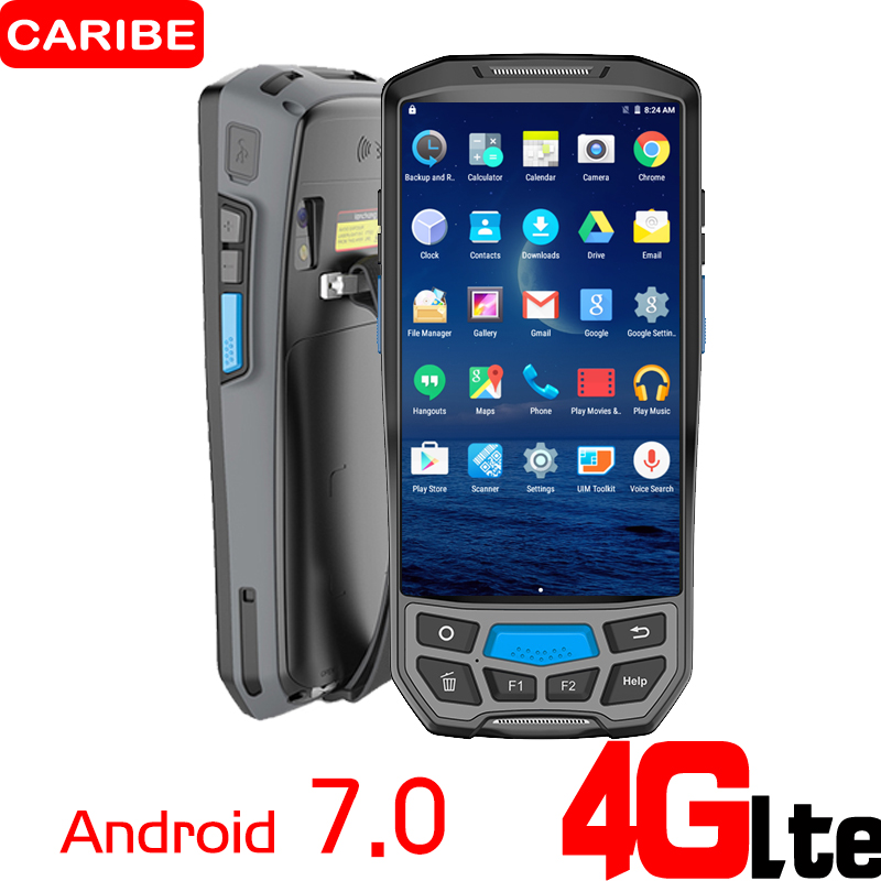 CARIBE PL 50L 2D barcode reader Android Handheld Billing Machine With Printer PDA Wireless Bar code Reader