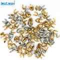 8mm Wholesale 100/150pcs/lot Silver Gold Plated Flower petal Spacer Beads Caps Charms Four leaves Bead Cups For Jewelry Making