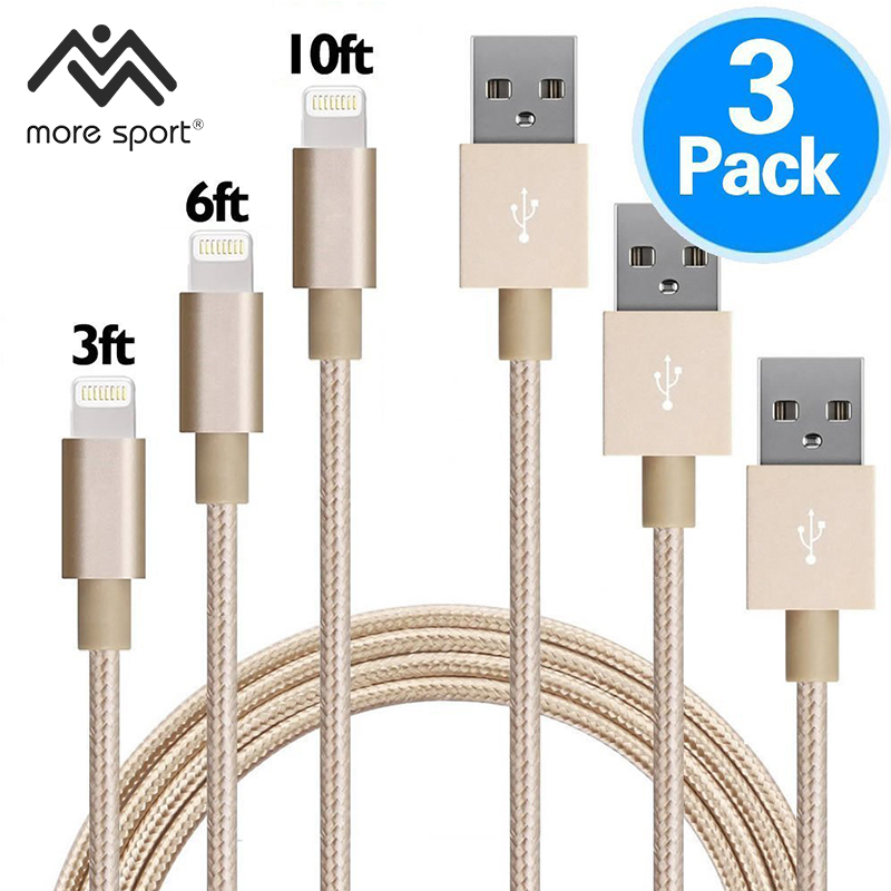 1.2m Muti Charger Cables 3-in-1 for iPhone 6 6s 7 Plus Micro USB Type C Charger Cable for Samsung Huawei Xiaomi LG