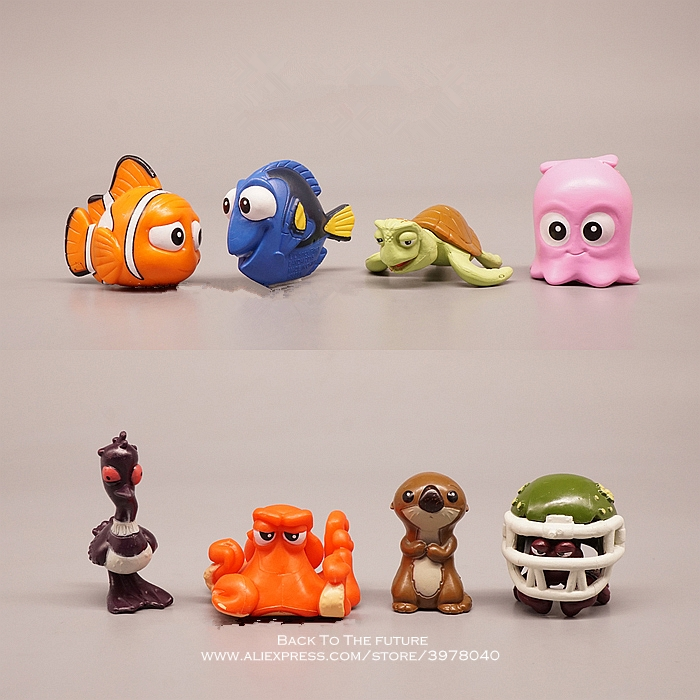 Disney Finding Nemo Dory 4-6cm 8pc/set Mini PVC Action Figure Posture Model Anime Collection Figurine Toys Model For Children