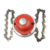 Power Grass Trimmer Head Steel Chain Saw Links Easy Cutting for Brush Cutter Garden Reapir Tools Parts