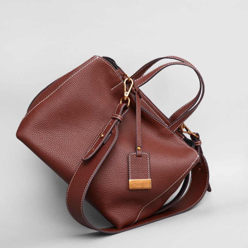 b79b0f9569c0 ... Импортируется из высококачественной телячьей кожи женские кожаные сумки  свежий стиль женские сумки через плечо Простые мягкие ...