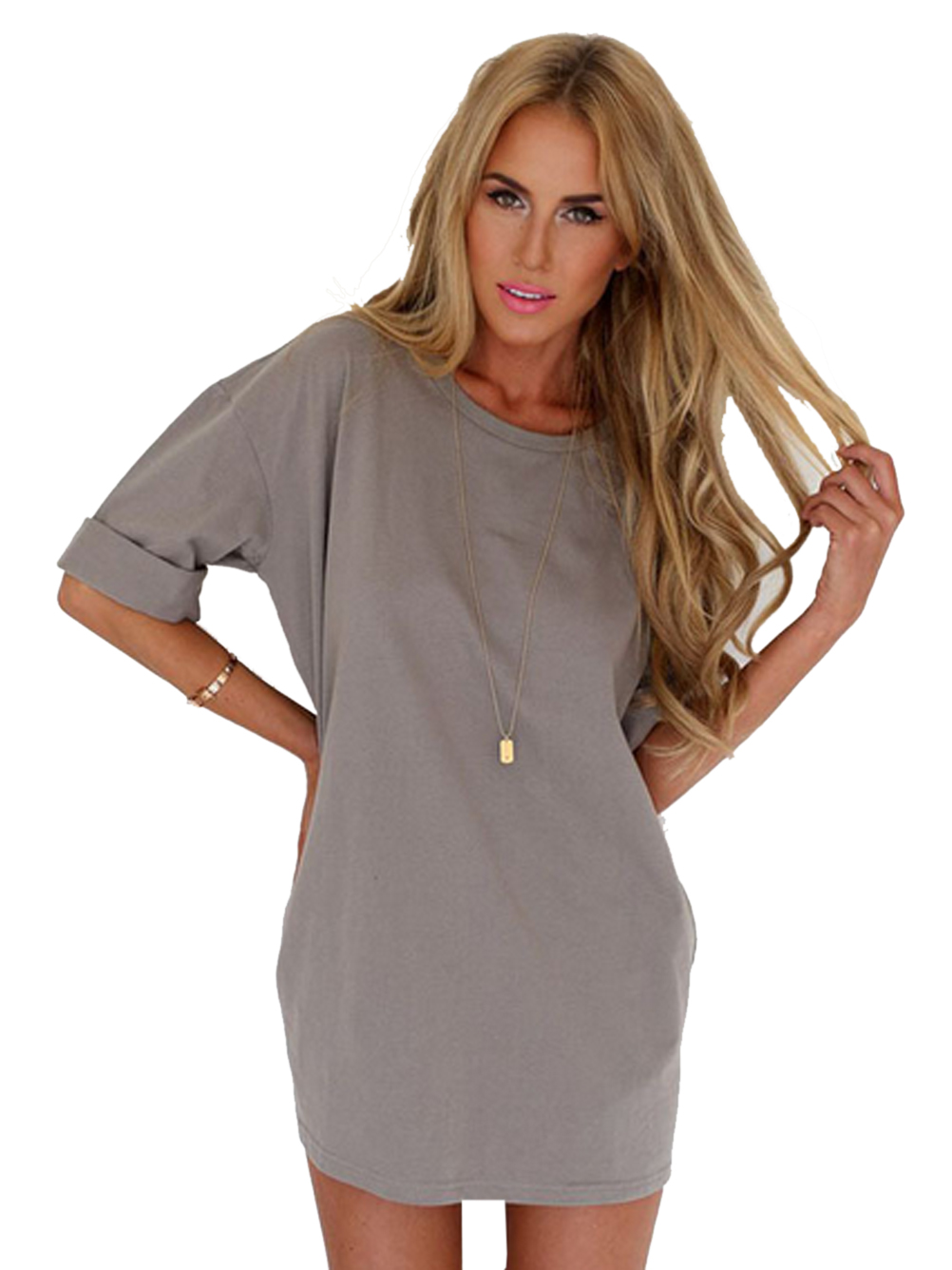 Gray Home Soft Long Shirts Women Loose Oversized Shirts Big Size Polyester  Tunic 2016 Spring Women Casual Summer Blouse Fashion-in Blouses   Shirts  from ... 6803a2faa