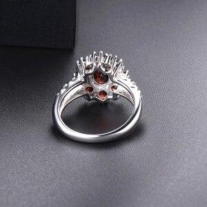 Image 4 - Hutang обручальные кольца с красным гранатом из стерлингового серебра 925 пробы, кольцо с натуральным драгоценным камнем, изящное элегантное ювелирное изделие для женщин, лучший подарок, Новинка