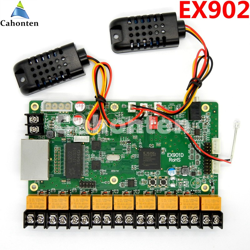 EX902 / EX902D multifunction board Full color display LED control card temperature & humidity& brightness support RGB Linsn card a30 hd a30 full color led dpanel controller large display sending card and sensor box support ir temperature humidity brightness