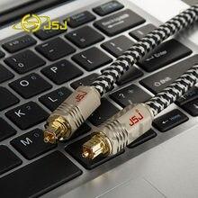 Jsj JF-G72 trançado digital fibra óptica spdif md dvd toslink cabo cabo de ligação entusiasta áudio digital cabo 1 m-5 m