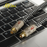 1M 2M 3M 5M JF G72 Braided Digital Fiber Optic Audio SPDIF MD DVD TosLink Cable